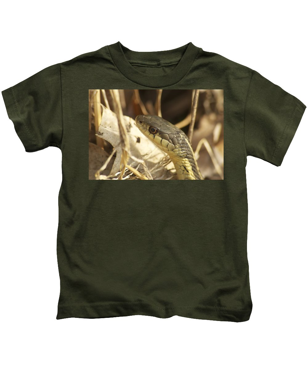 Wildlife Kids T-Shirt featuring the photograph Snake Eye by Michael Peychich