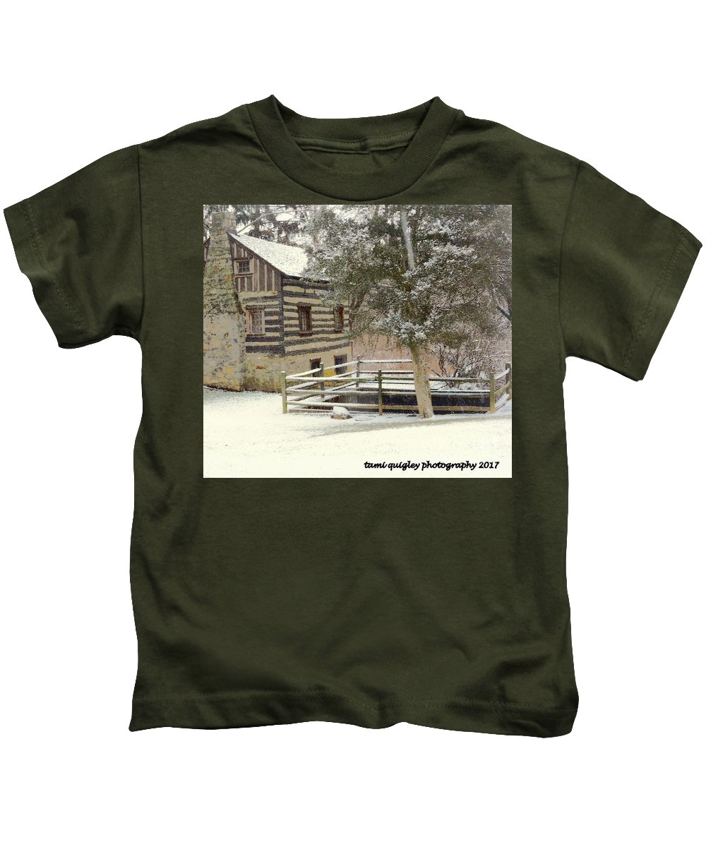 Snow Day Kids T-Shirt featuring the photograph Snow Day by Tami Quigley