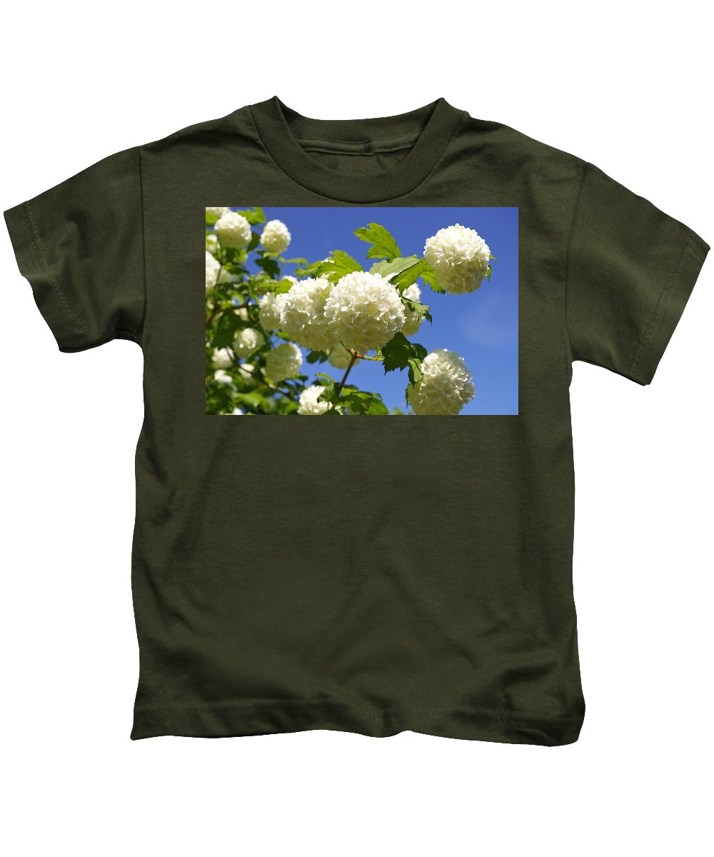 Flower Kids T-Shirt featuring the photograph Snowballs by FL collection