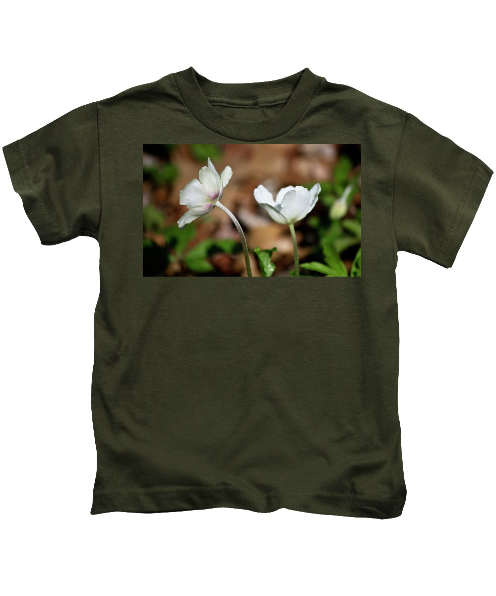 Snowdrop Kids T-Shirt featuring the photograph Snowdrop Anemones by Teresa Mucha