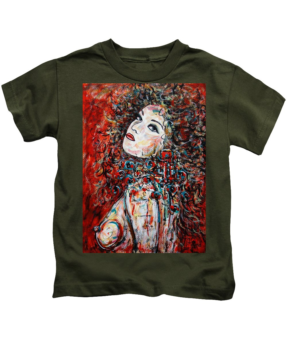 Expressionism Kids T-Shirt featuring the painting So What by Natalie Holland