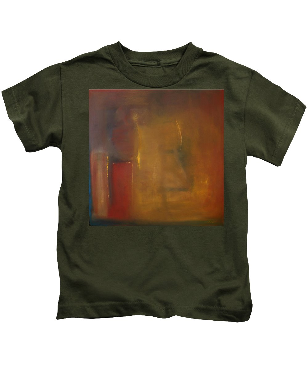 Kids T-Shirt featuring the painting Softly Reflecting by Jack Diamond