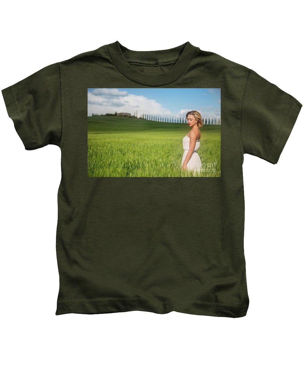 Kremsdorf Kids T-Shirt featuring the photograph Sogno Toscana by Evelina Kremsdorf