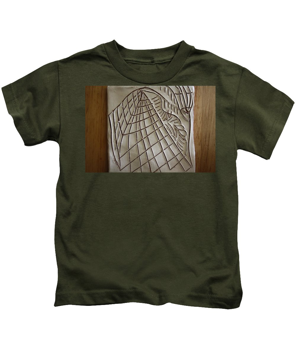 Jesus Kids T-Shirt featuring the ceramic art Solemnity - Tile by Gloria Ssali
