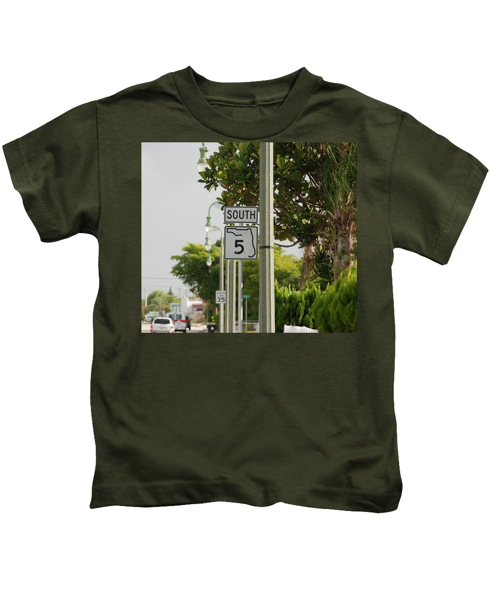 South Kids T-Shirt featuring the photograph South Florida 5 by Rob Hans