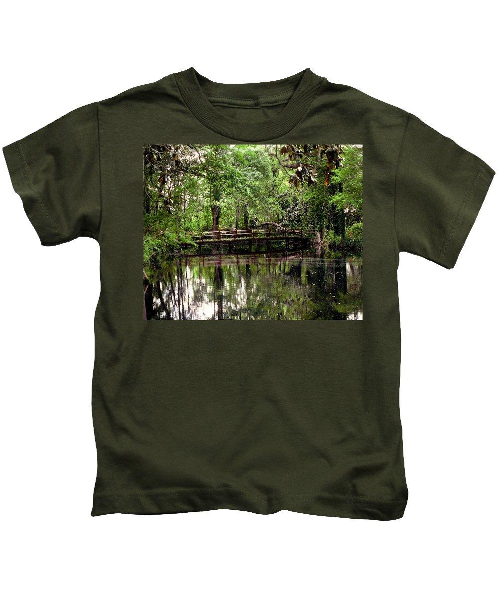 Bridge Kids T-Shirt featuring the photograph Plantation Living by Gary Wonning