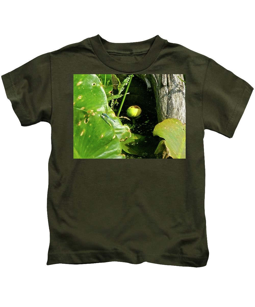 Lily Kids T-Shirt featuring the photograph Spatterdock - Wild Yellow Water Lily by Mother Nature
