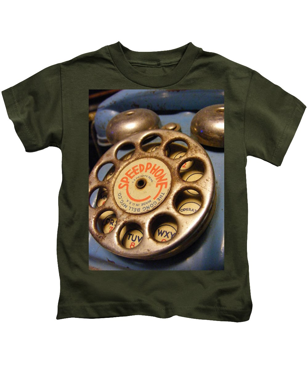 Phone Kids T-Shirt featuring the photograph Speed Phone by Ed Smith
