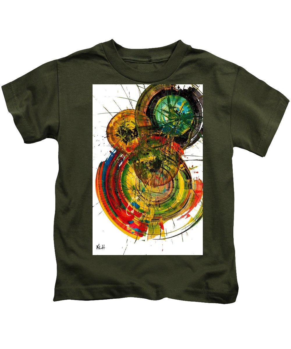Sphere Series Kids T-Shirt featuring the painting Sphere Series 50.041011 by Kris Haas
