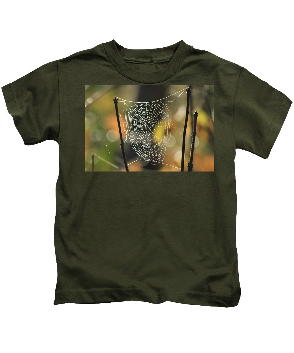 Spider Kids T-Shirt featuring the photograph Spider's Creation by Karol Livote