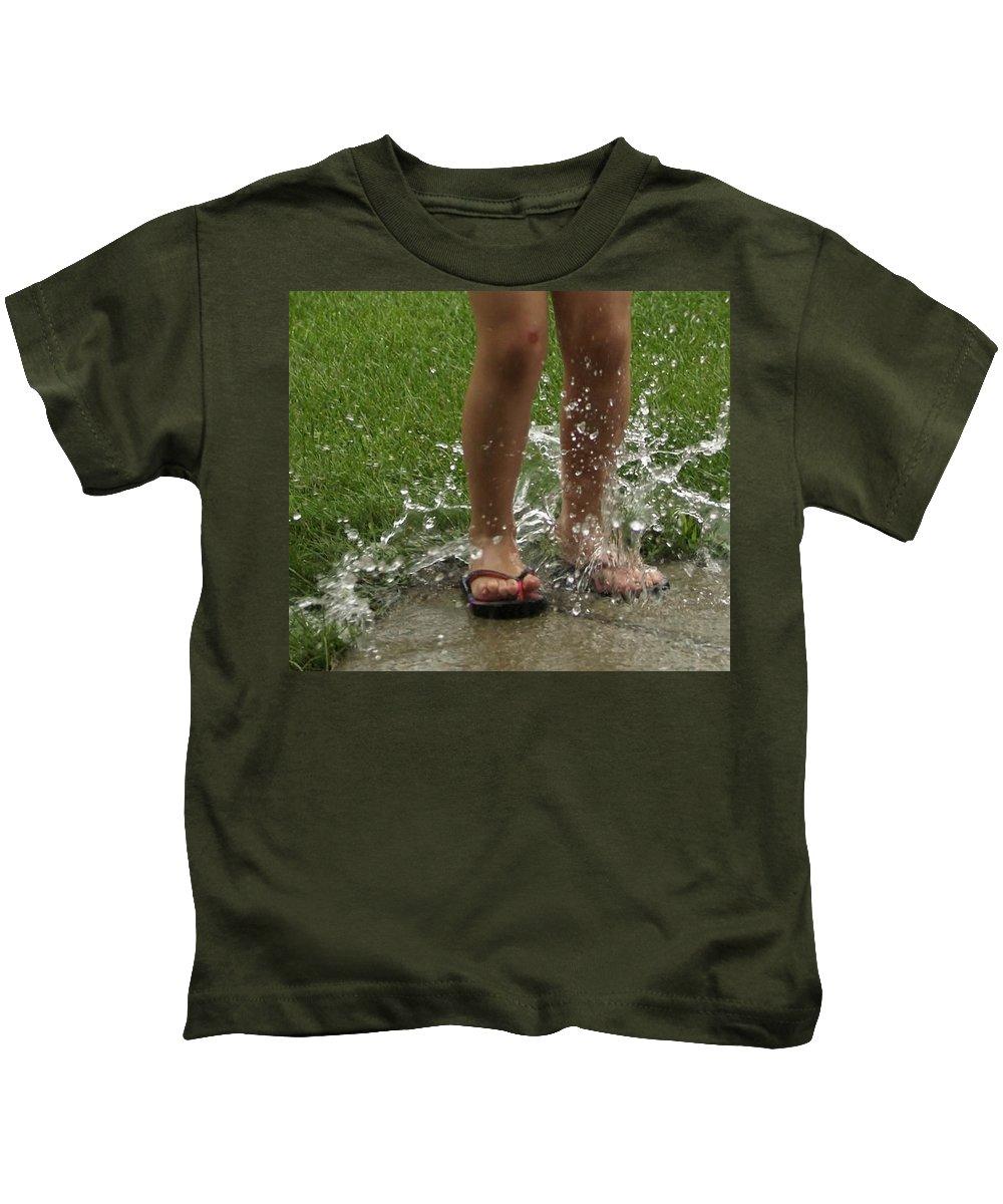 Splash Kids T-Shirt featuring the photograph Splash by Denise Irving