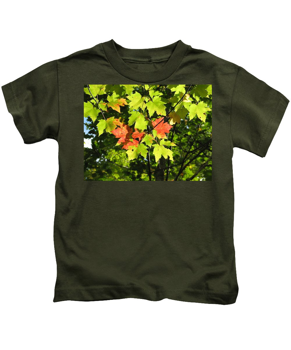 Fall Kids T-Shirt featuring the photograph Splattered Paint by Kelly Mezzapelle