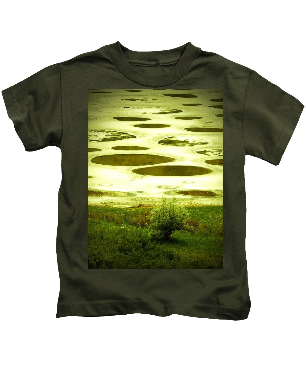 Spotted Lake Kids T-Shirt featuring the photograph Spotted Lake by Tara Turner