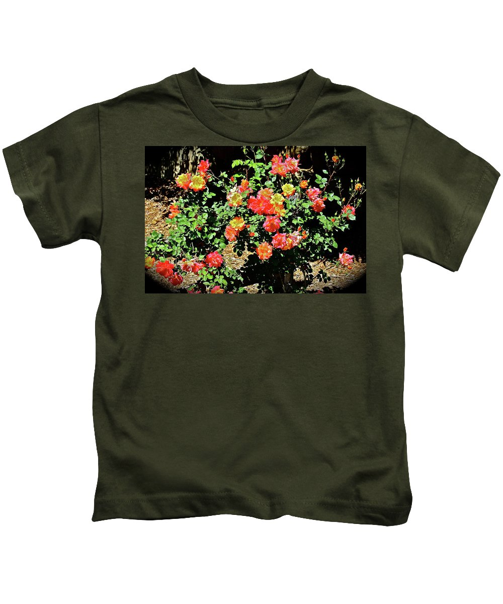 Flowers Kids T-Shirt featuring the photograph Spreading Cheer by Diana Hatcher
