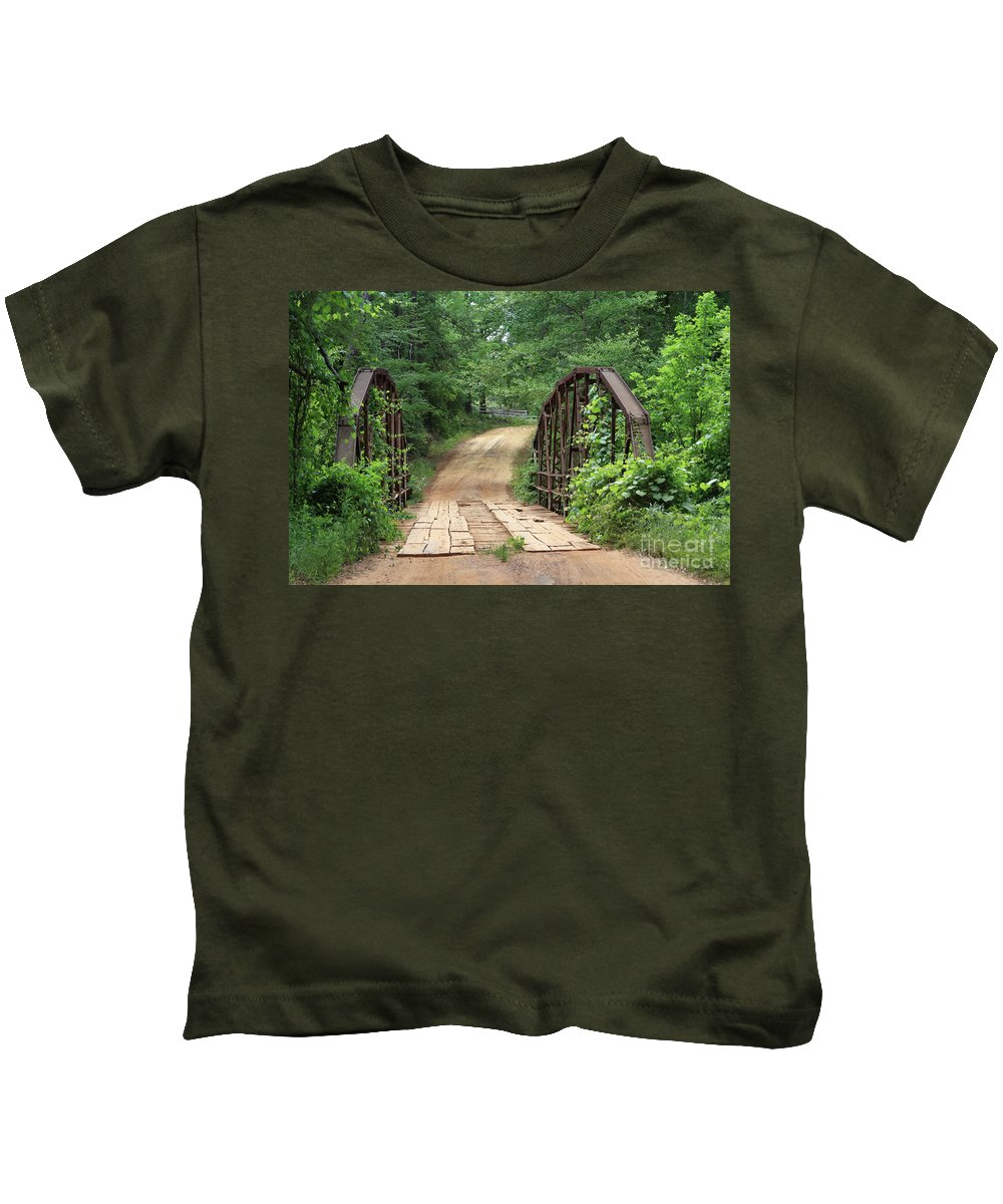 Bridges Kids T-Shirt featuring the photograph Spring At The Old Bridge by Kim Henderson