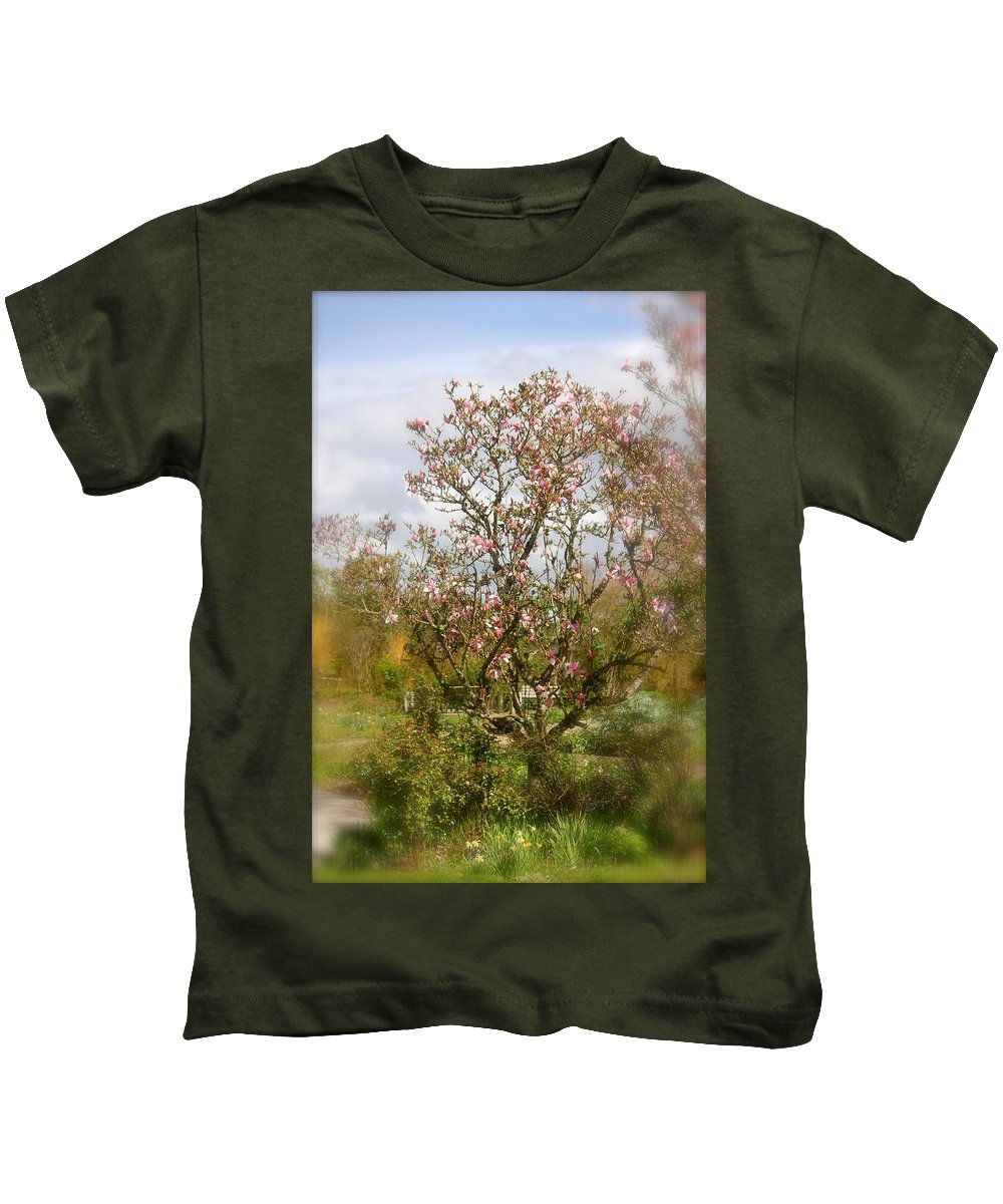 Tree Kids T-Shirt featuring the photograph Spring Beauty by Christine Patterson