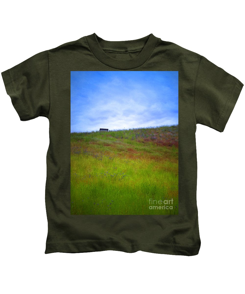 Bench Kids T-Shirt featuring the photograph Spring Bench by Tara Turner