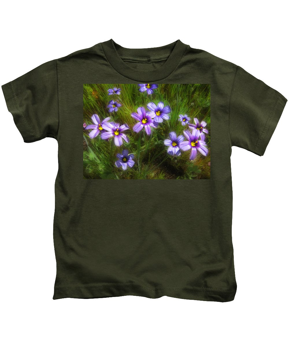 Flowers Kids T-Shirt featuring the photograph Spring Flowers by Karen W Meyer