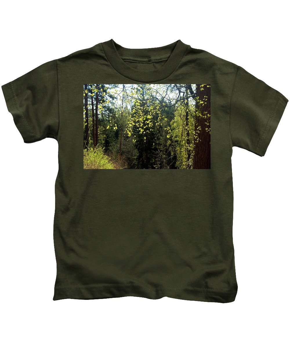 Spring Kids T-Shirt featuring the photograph Spring Foliage by Jarmo Honkanen