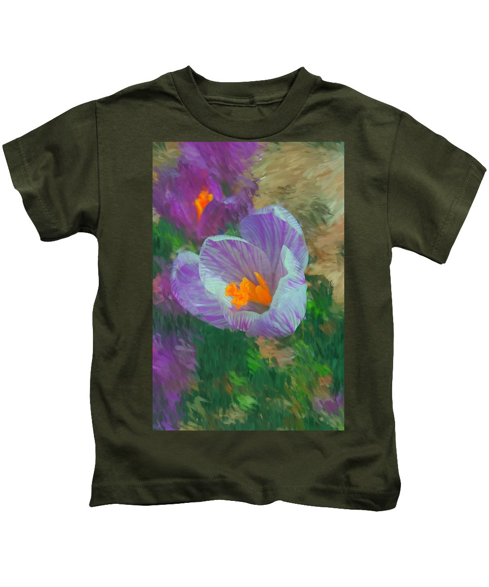 Digital Photography Kids T-Shirt featuring the digital art Spring Has Sprung by David Lane