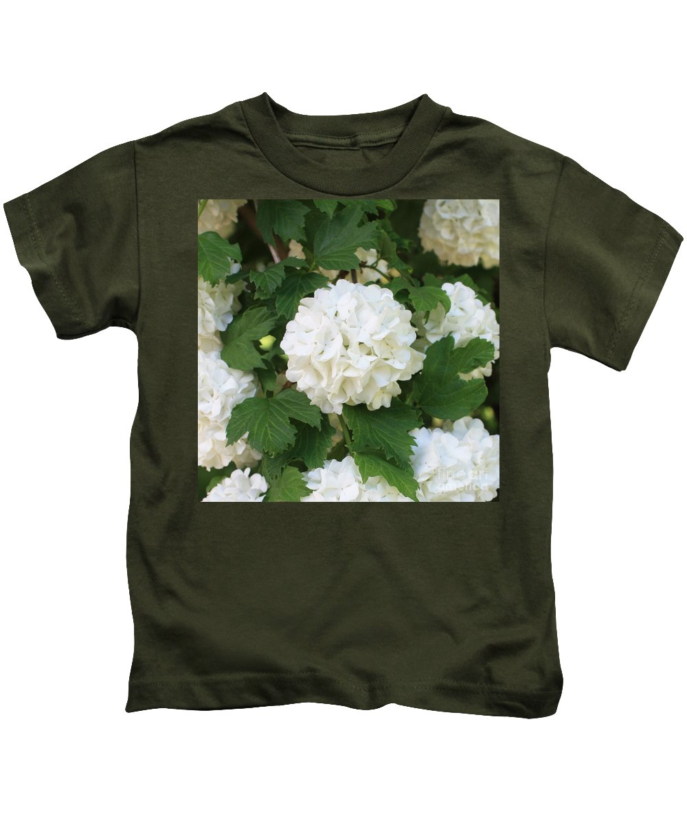 Snowball Kids T-Shirt featuring the photograph Spring Snowball by Carol Groenen