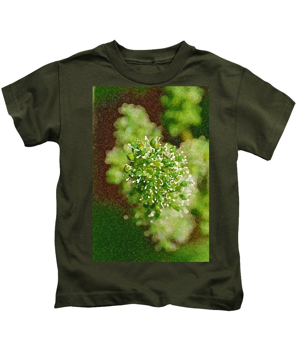 Grapes Kids T-Shirt featuring the photograph Sprouting Grapes by Carol Eliassen