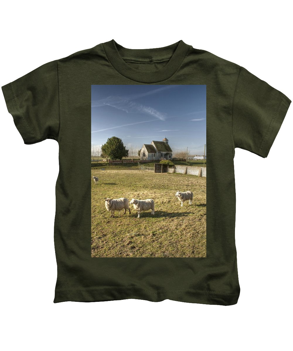 St Kids T-Shirt featuring the photograph St Bartholomew Goodnestone by Dave Godden