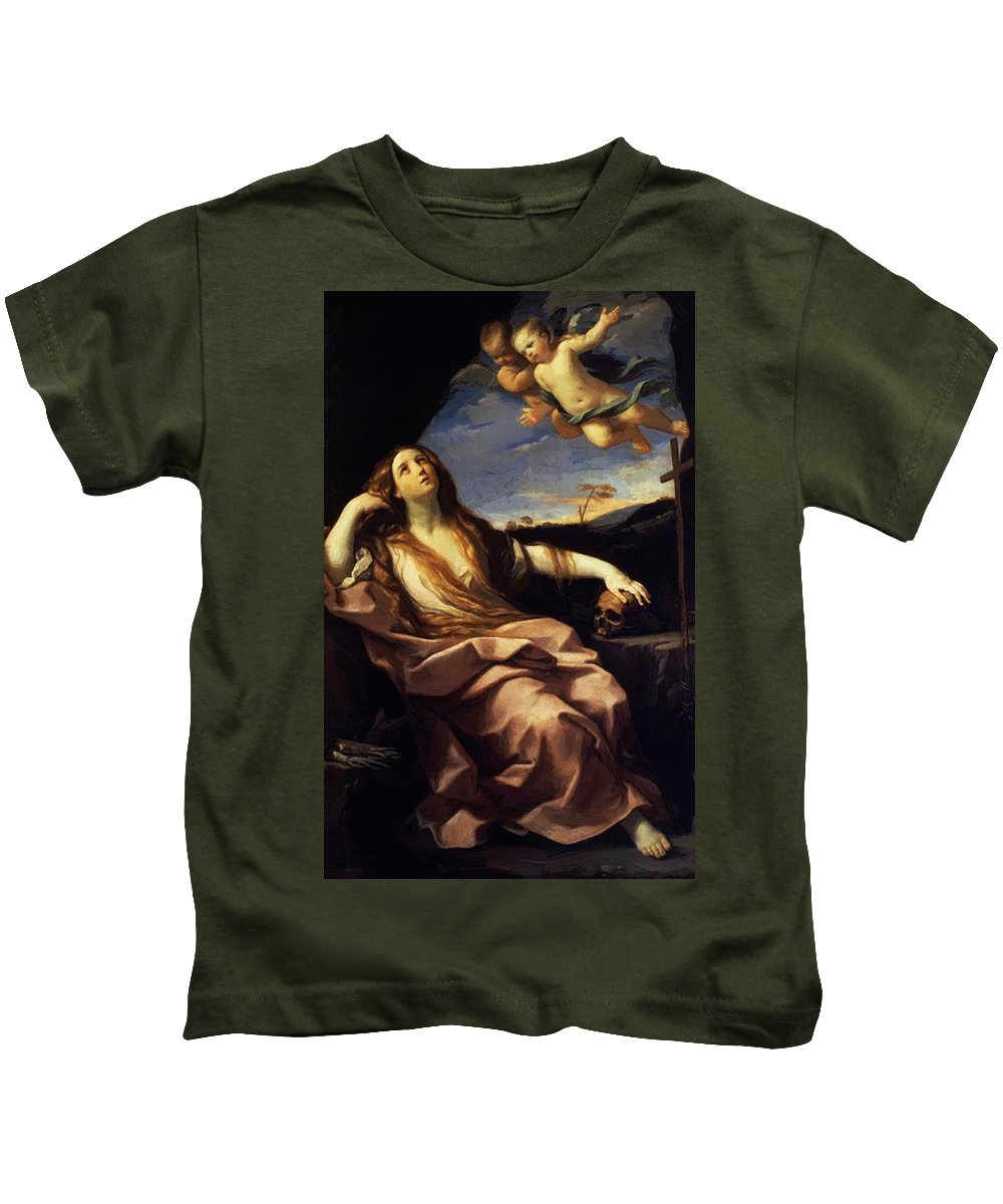 St Kids T-Shirt featuring the painting St Mary Magdalene 1632 by Reni Guido