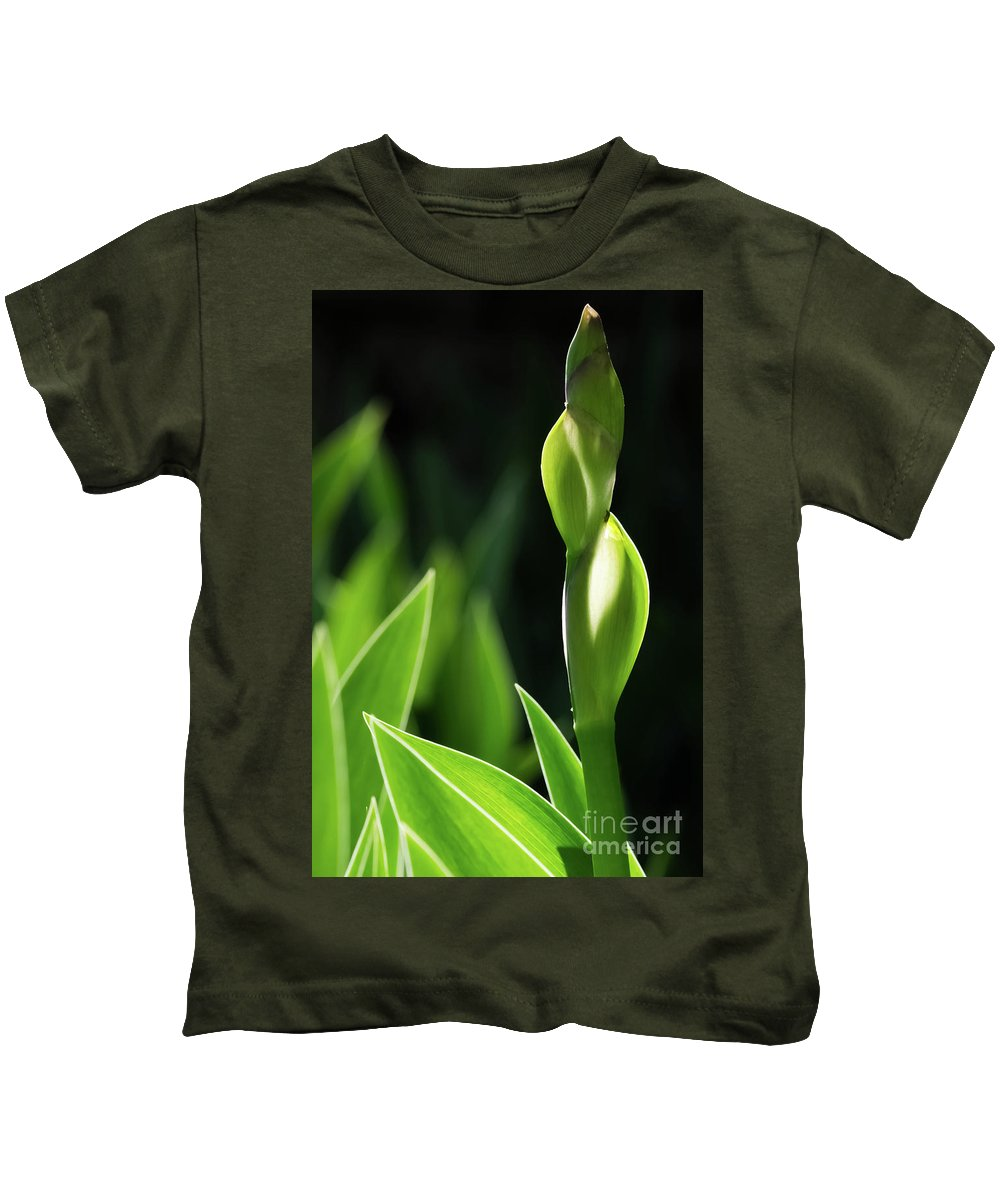 Green Kids T-Shirt featuring the photograph Standing Tall by Mellissa Ray
