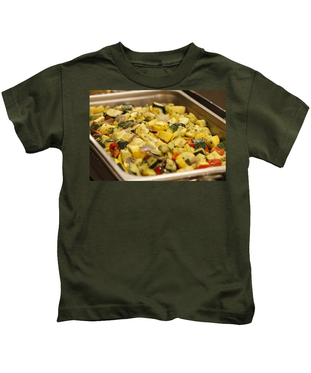 Steamed Vegetables Kids T-Shirt featuring the photograph Steamed Vegetables by PhotographyAssociates