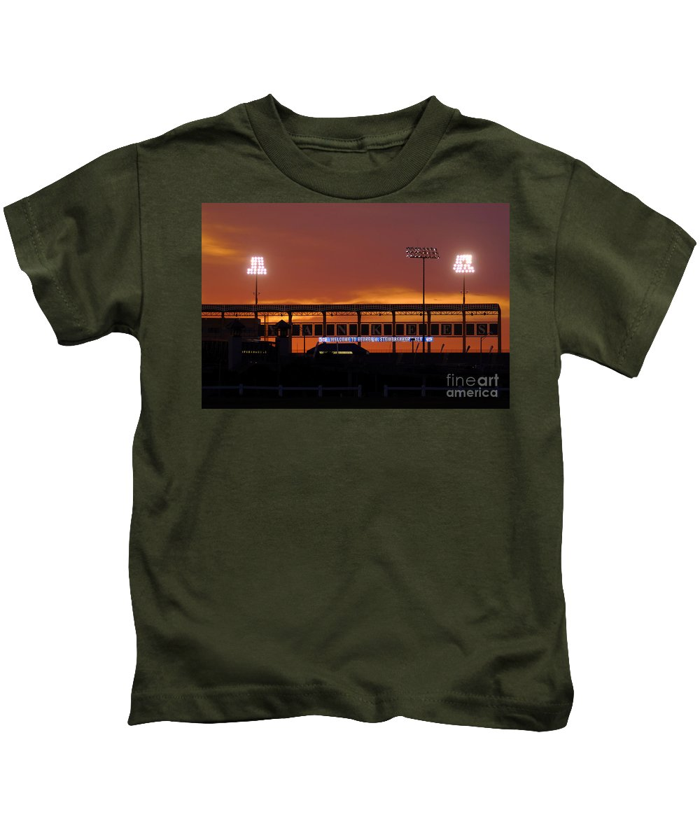 Steinbrenner Field Kids T-Shirt featuring the photograph Steinbrenner Field by David Lee Thompson