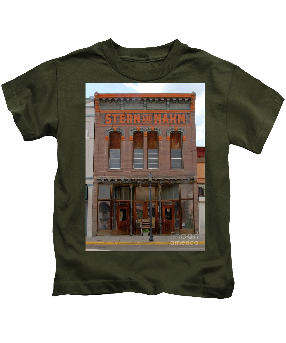Fine Art Photography Kids T-Shirt featuring the photograph Stern And Nahm 1879 by David Lee Thompson