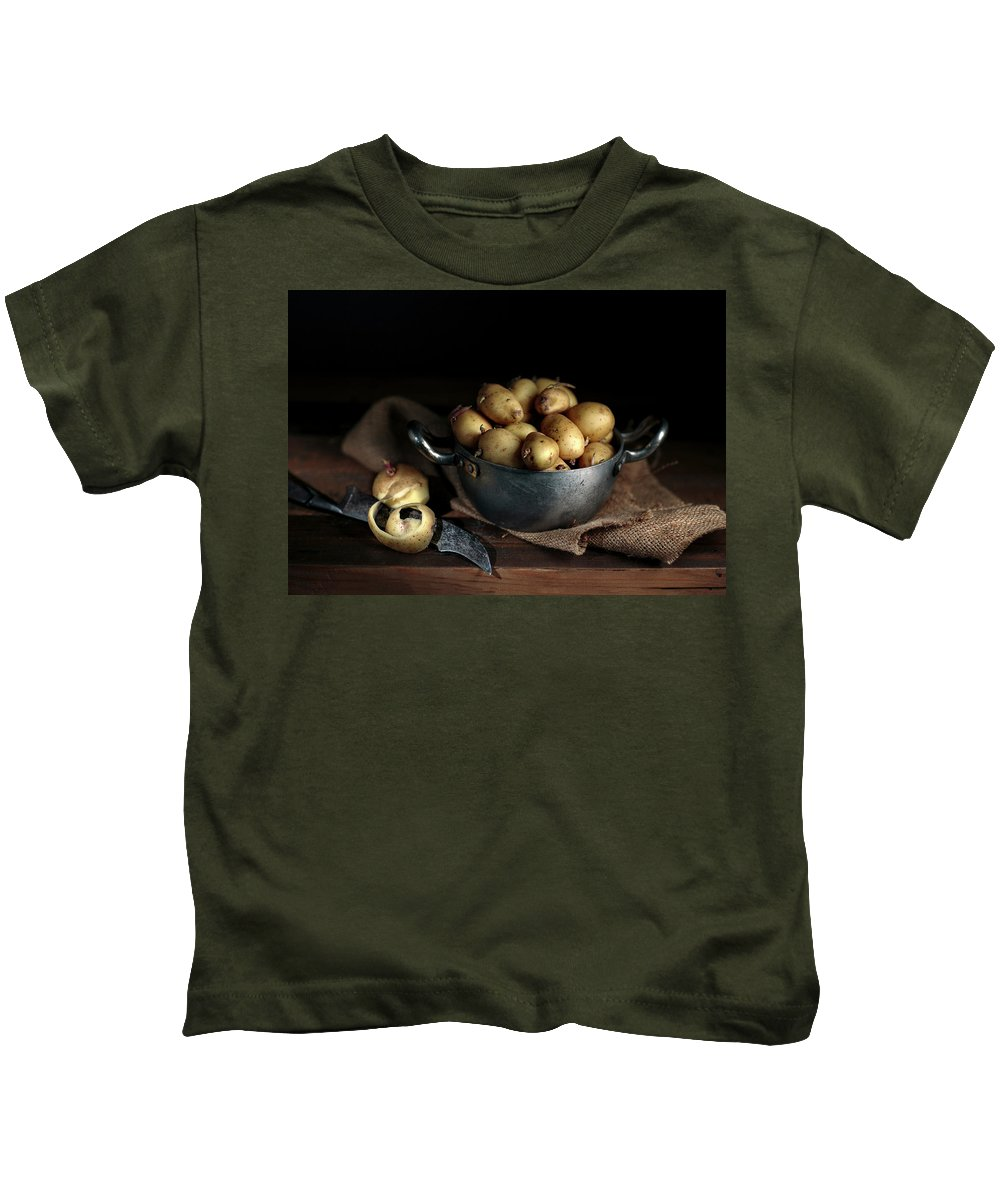 Potato Kids T-Shirt featuring the photograph Still Life With Potatoes by Nailia Schwarz