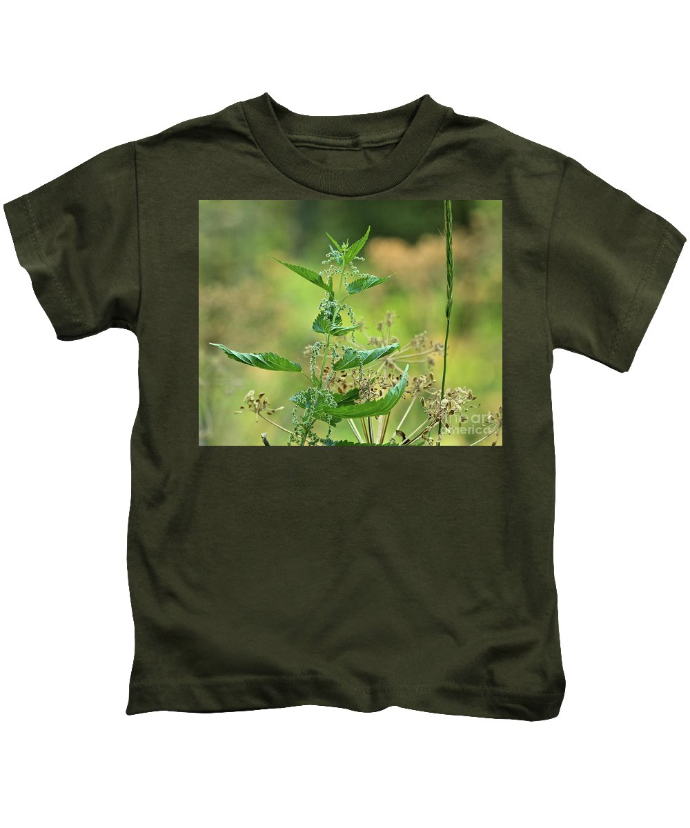 Stinging Nettle Kids T-Shirt featuring the photograph Stinging Nettle by Ann E Robson