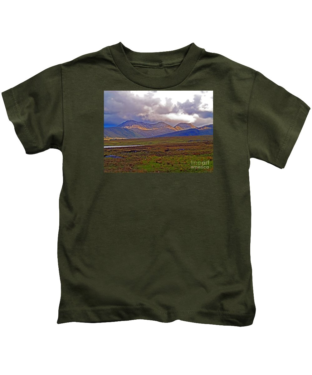 Fine Art Photography Kids T-Shirt featuring the photograph Storm Clouds Ahead In Connemara by Patricia Griffin Brett