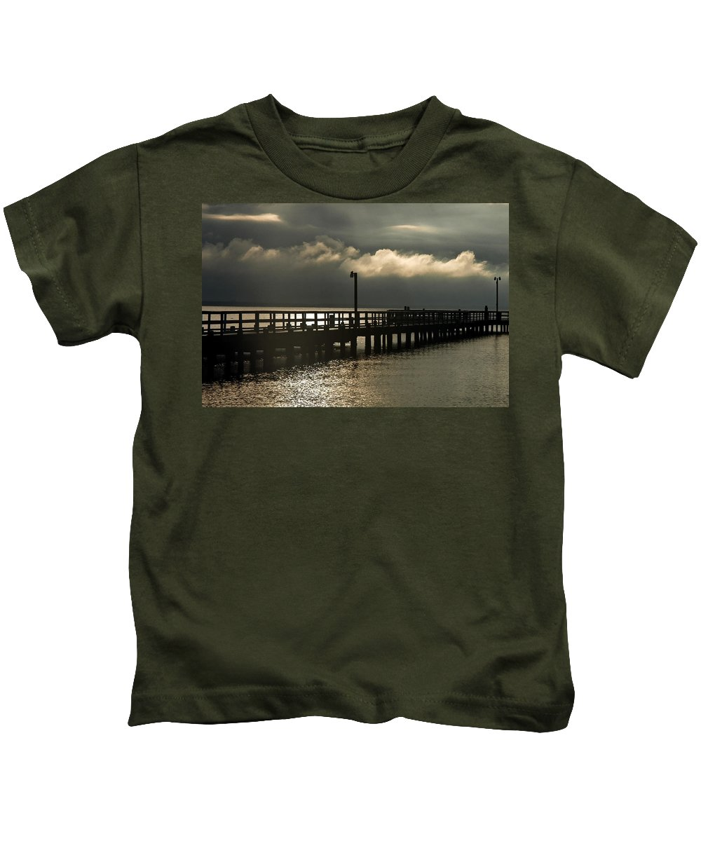 Clay Kids T-Shirt featuring the photograph Storms Brewin' by Clayton Bruster