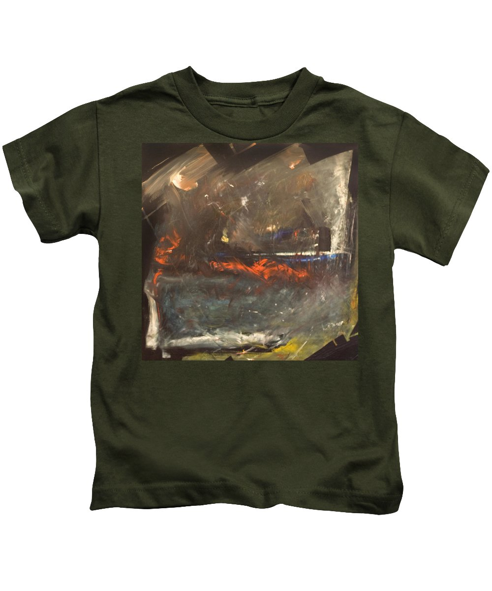 Storm Kids T-Shirt featuring the painting Stormy Monday by Tim Nyberg