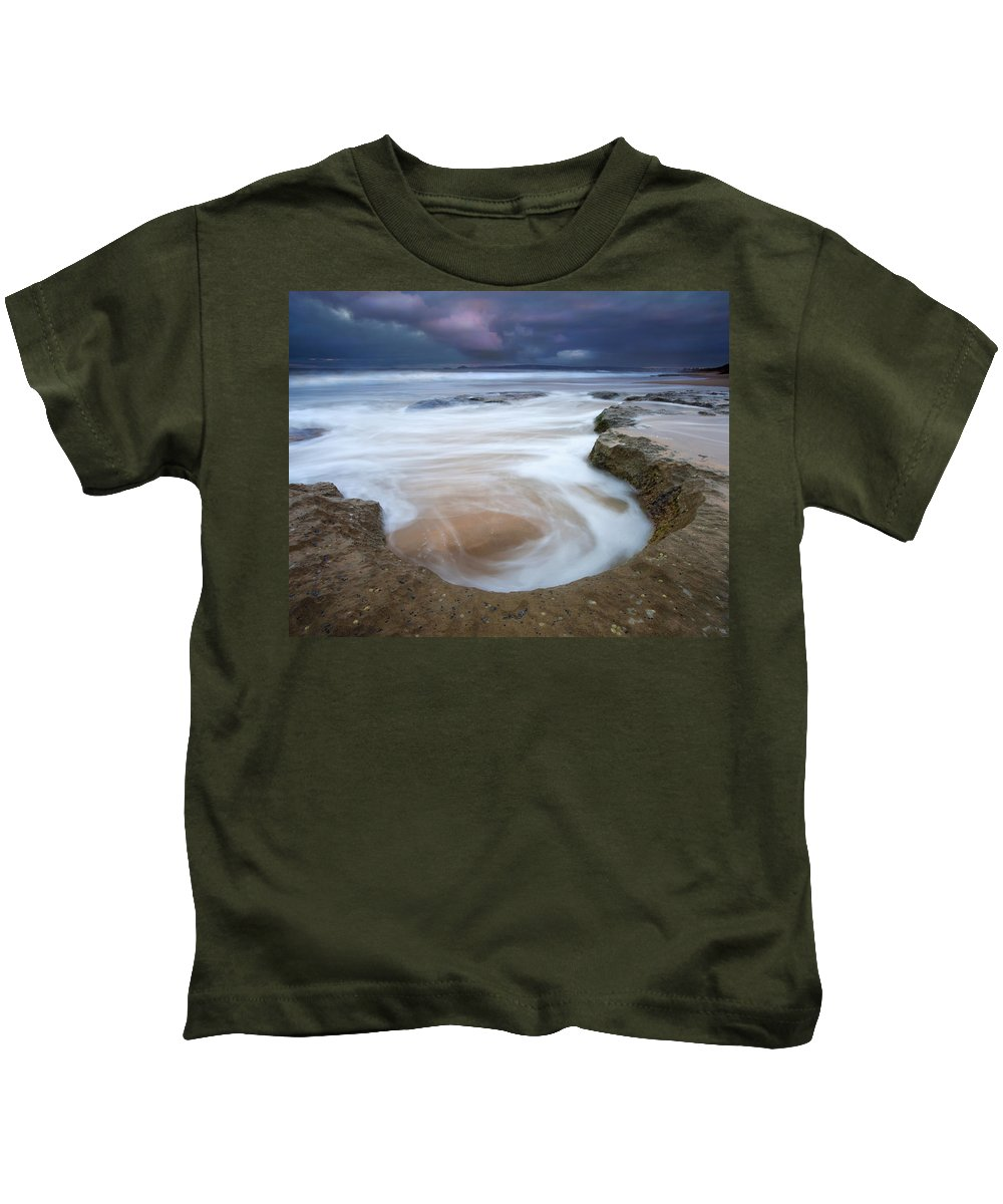 Sunrise Kids T-Shirt featuring the photograph Stormy Sunrise by Mike Dawson