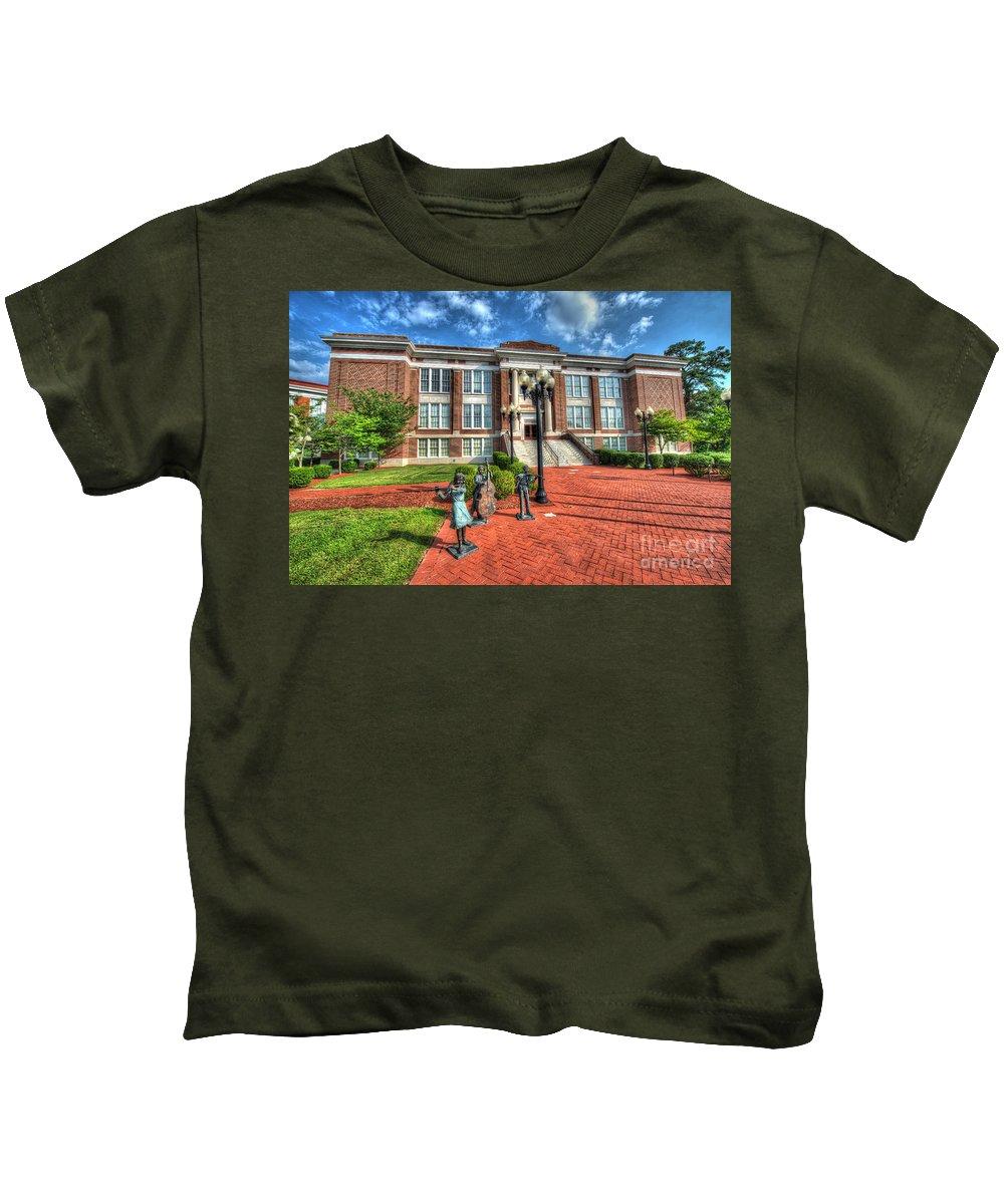 High School Kids T-Shirt featuring the photograph Suffolk Center For Cultural Arts Suffolk Va No.2 by Greg Hager
