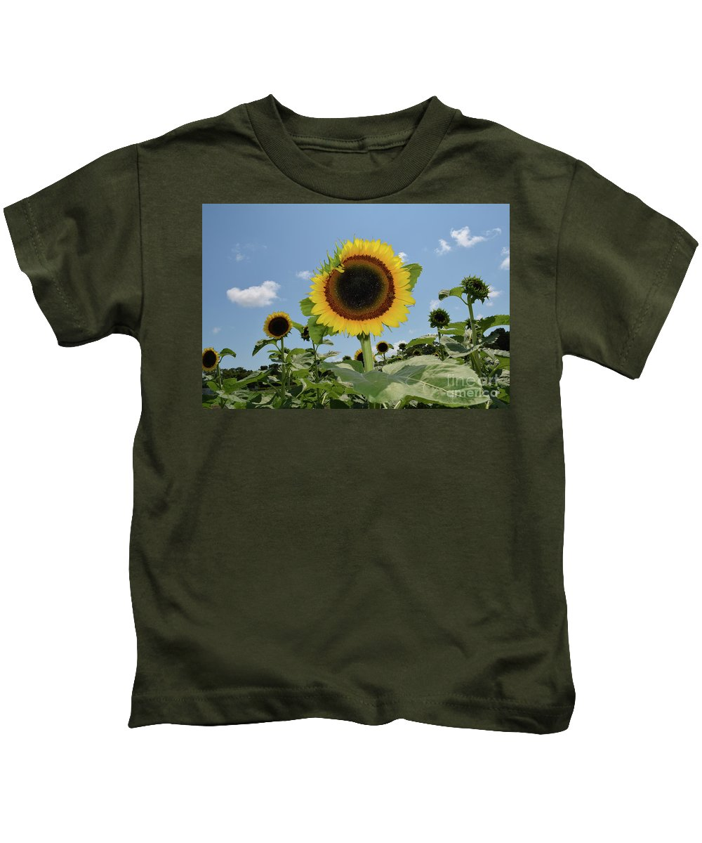 Sunflower Kids T-Shirt featuring the photograph Summer Begin by To-Tam Gerwe