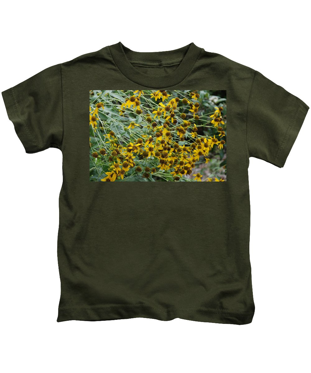 Macro Kids T-Shirt featuring the photograph Sun Flowers by Rob Hans