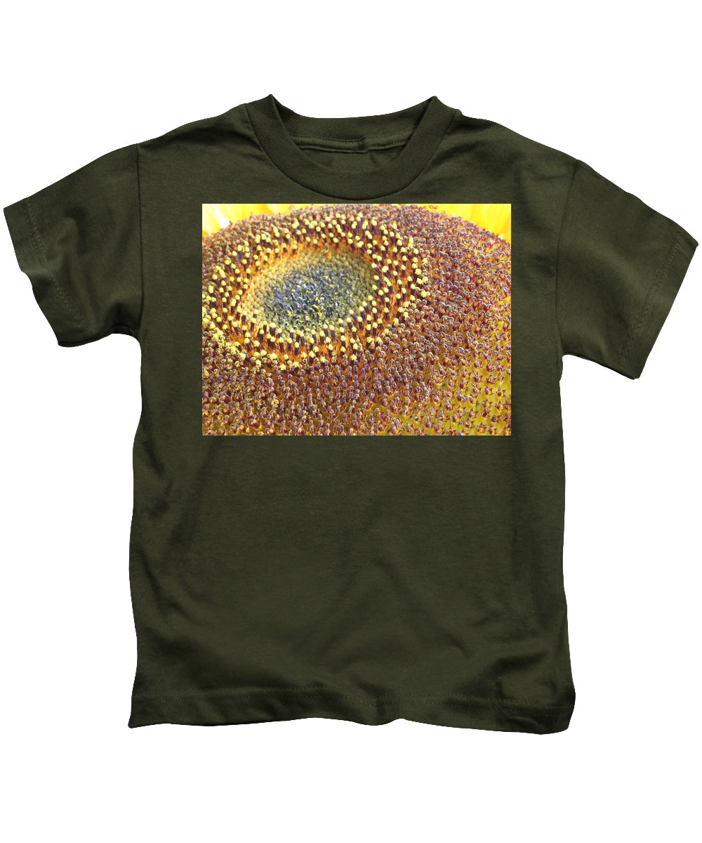 Sunflower Kids T-Shirt featuring the photograph Sunflower Heart by Line Gagne