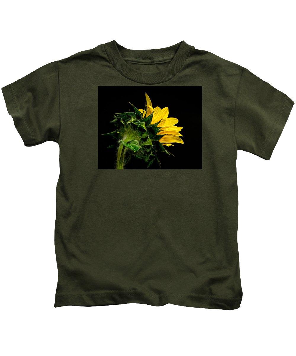 Floral Close Up Kids T-Shirt featuring the photograph Sunflower by Neva Kittrell-Scheve