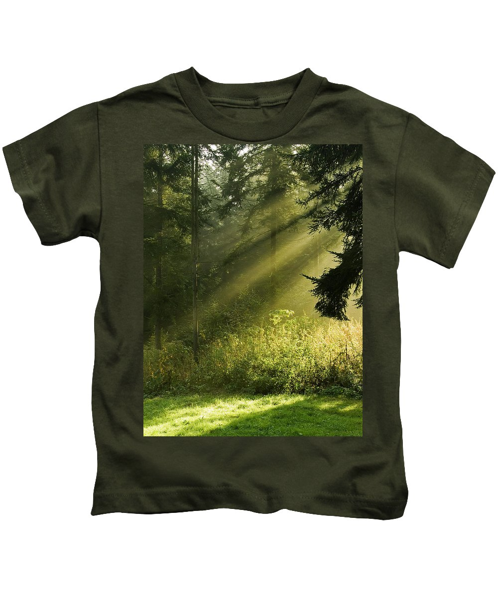 Nature Kids T-Shirt featuring the photograph Sunlight by Daniel Csoka