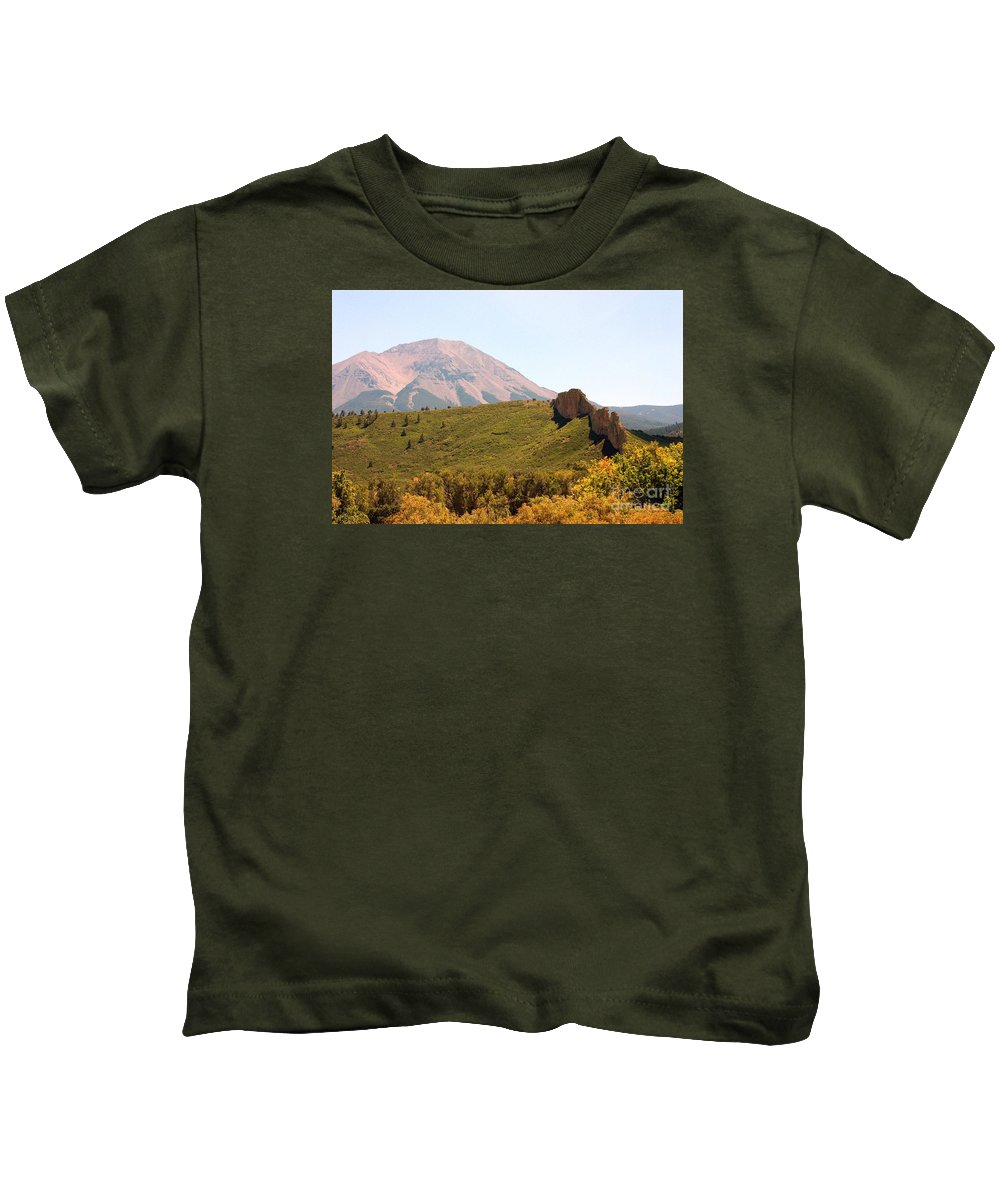 Landscape Kids T-Shirt featuring the photograph Sunlit Peak by Robert Smitherman