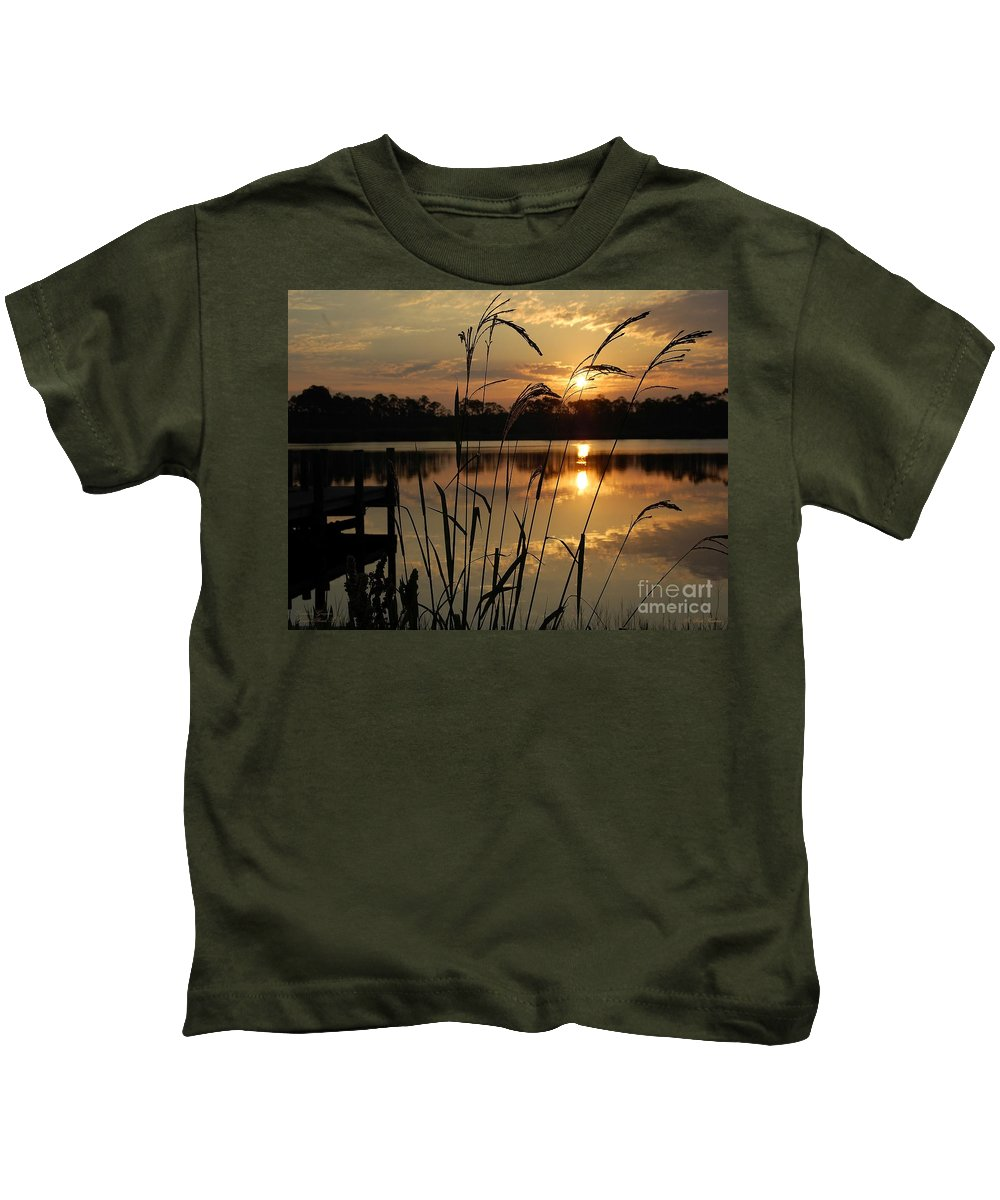 Sunrise Kids T-Shirt featuring the photograph Sunrise At Grayton Beach by Robert Meanor