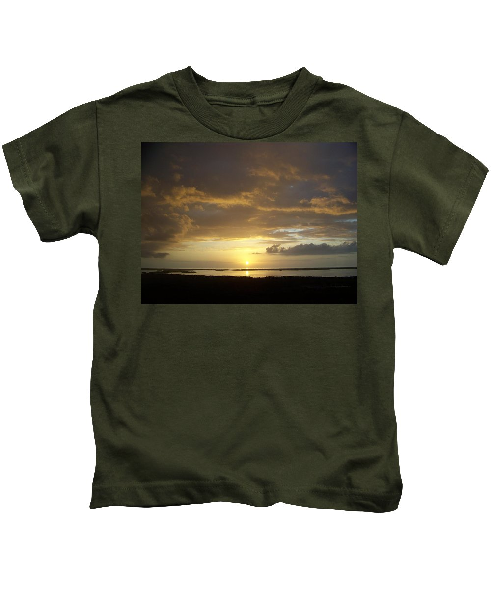 Sunset Kids T-Shirt featuring the photograph Sunset 0018 by Laurie Paci