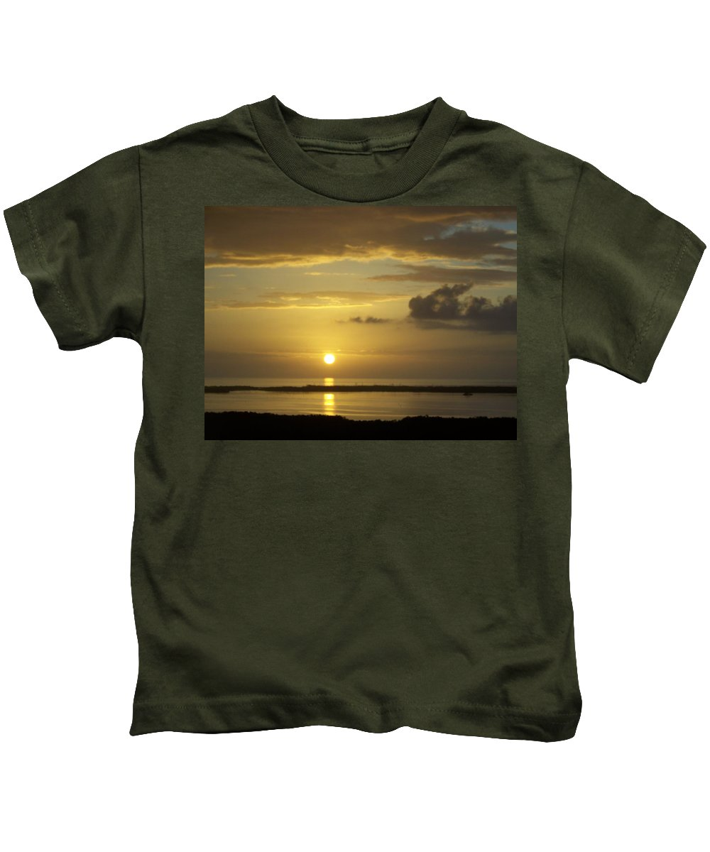 Sunset Kids T-Shirt featuring the photograph Sunset 0019 by Laurie Paci
