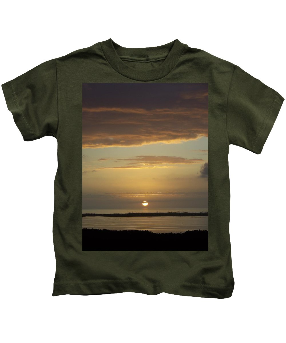 Sunset Kids T-Shirt featuring the photograph Sunset 0021 by Laurie Paci