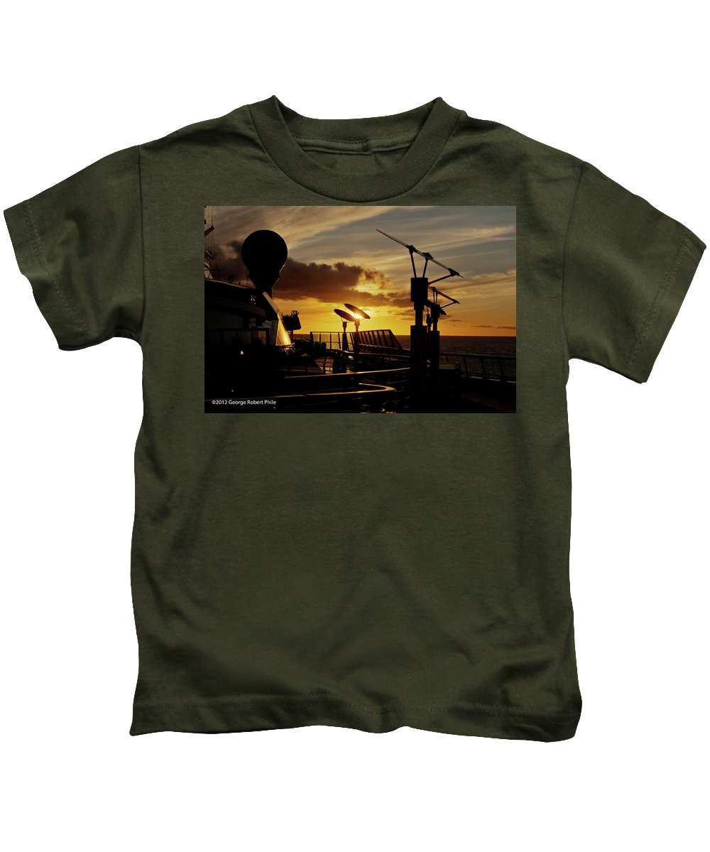 Cloud Kids T-Shirt featuring the photograph Sunset - 39 by George Phile